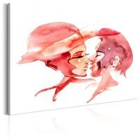 Schilderij - Vervoering in Pastel , Man en Vrouw