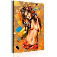 Schilderij - Festival van Sensualiteit , Vrouw