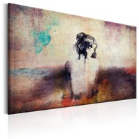 Schilderij -Vrouw in Gedachten