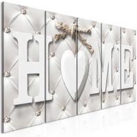 Schilderij - Chique Home, thuis, 5luik