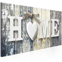 Schilderij - Geuren van thuis, HOME, 100x45