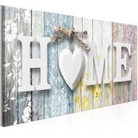 Schilderij - Geuren van thuis kleurrijk, HOME, 100x45