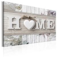 Schilderij - Lente huis: Home