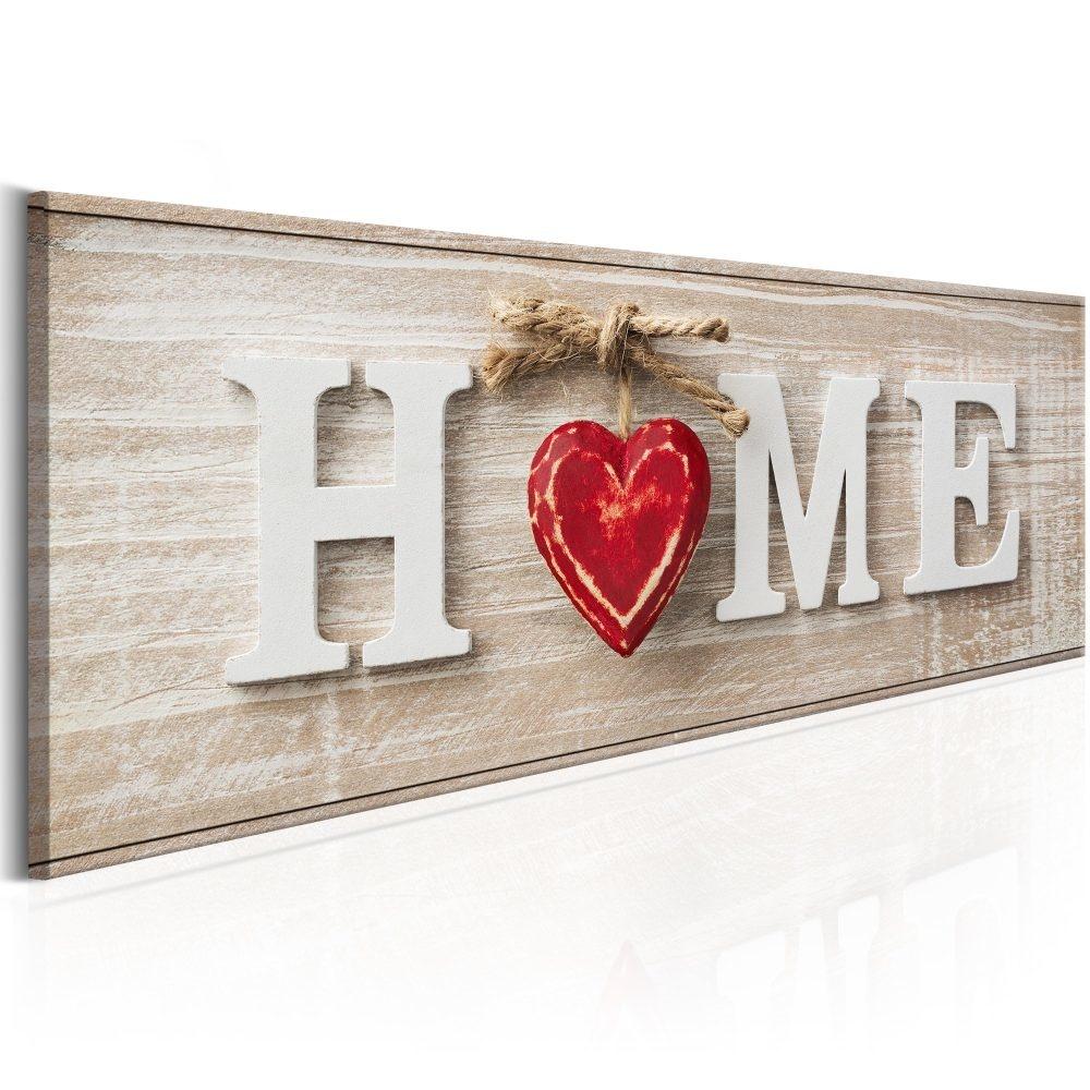 Schilderij - Huis: Rood, Home
