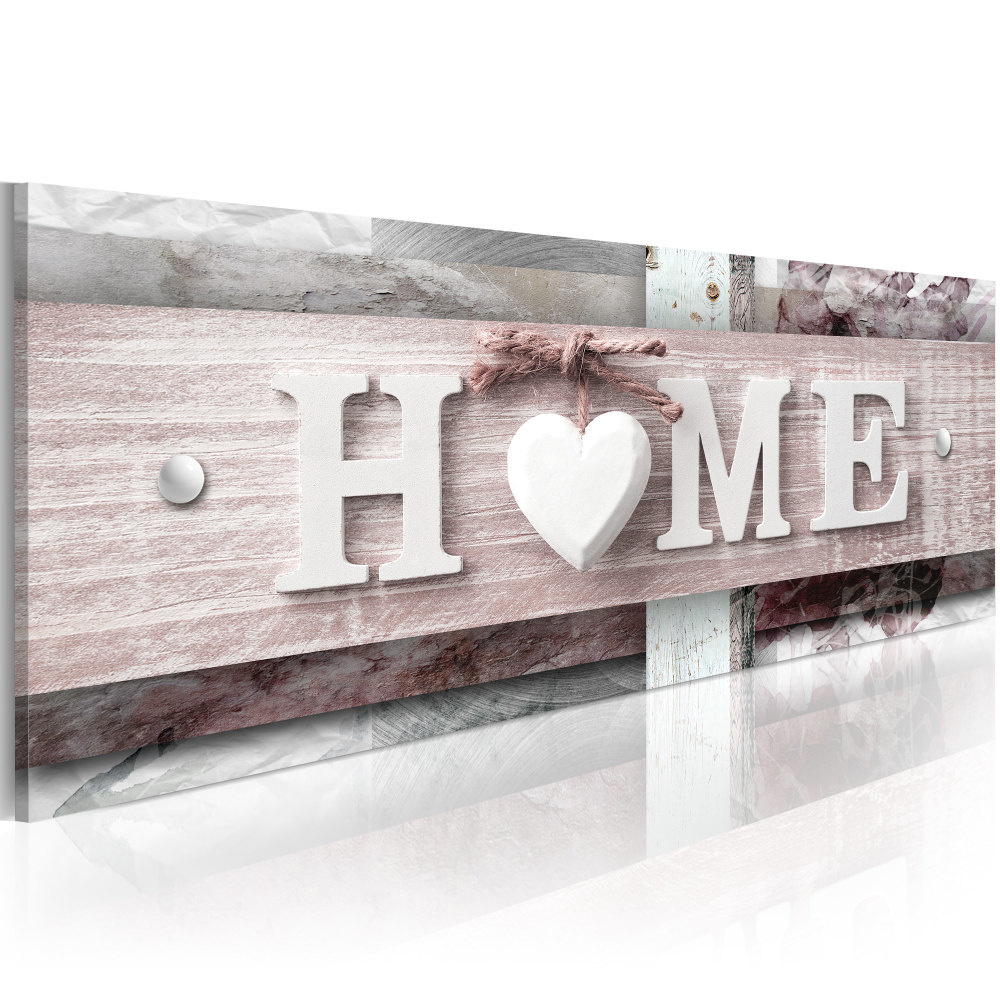 Schilderij - Home in moderne vormgeving