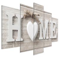 Schilderij - Home is waar de liefde is , 5 luik