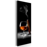 Schilderij - Sigaar en Cognac