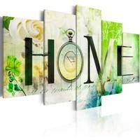Schilderij -Huis van Rozen , Home , 5 luik