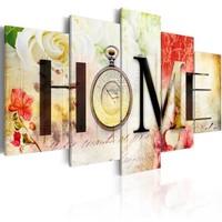 Schilderij - Huis van Bloemen , Home , 5 luik