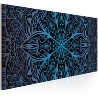 Schilderij - Mandala , Blauw