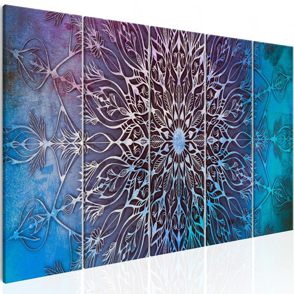 Schilderij - Hemelse Mandala II, 5 luik