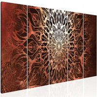 Schilderij - Hypnose II , Mandala , 5 luik