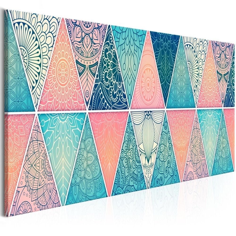 Schilderij - Oosterse Driehoeken II , Mandala