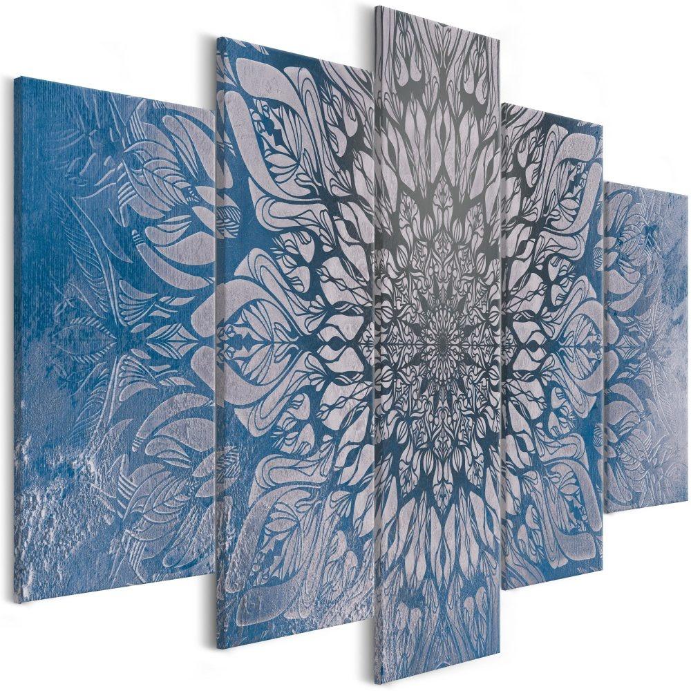 Schilderij - Hypnose III , Mandala , 5 luik