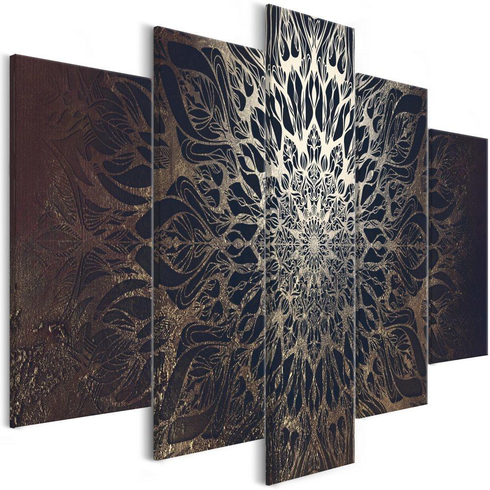 Schilderij - Hypnose , Mandala , 5 luik