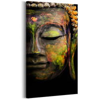 Schilderij - Boeddha 's Gezicht