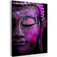 Schilderij - Roze Boeddha