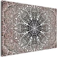 Schilderij - Oriëntale Bloemen II , Mandala