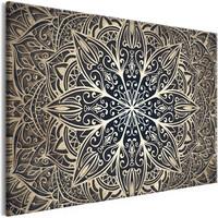 Schilderij - Oriëntale Bloemen , Mandala