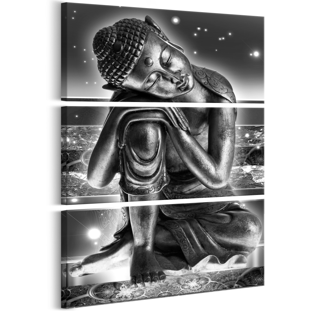 Schilderij - Fantasie�n van Boeddha , 3 luik