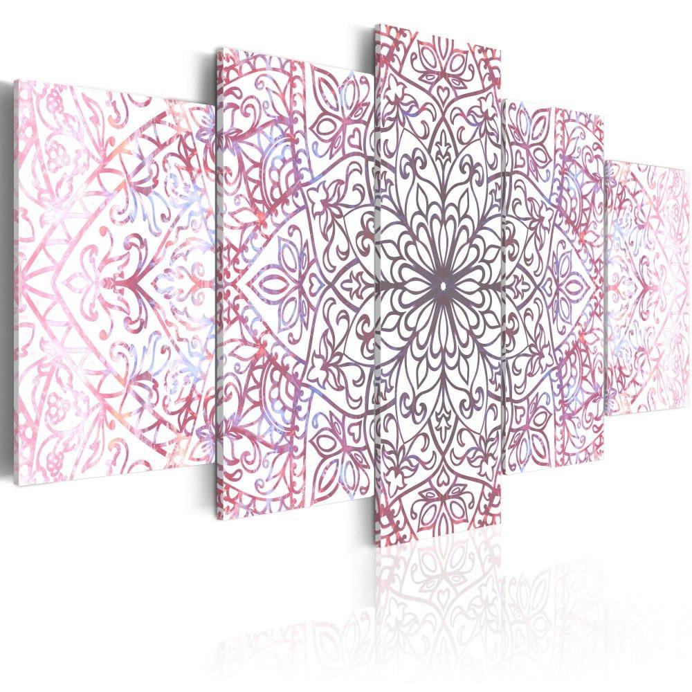 Schilderij - Oosterse Perfectie , Mandala , 5 luik