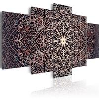 Schilderij - Fijne Spiritualiteit , mandala , 5 luik
