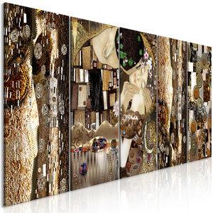 Schilderij - Voor altijd samen , Abstract , 5 luik