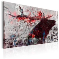 Schilderij - Robijn hert