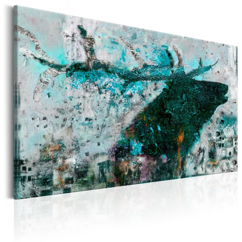 Schilderij - Saffier hert