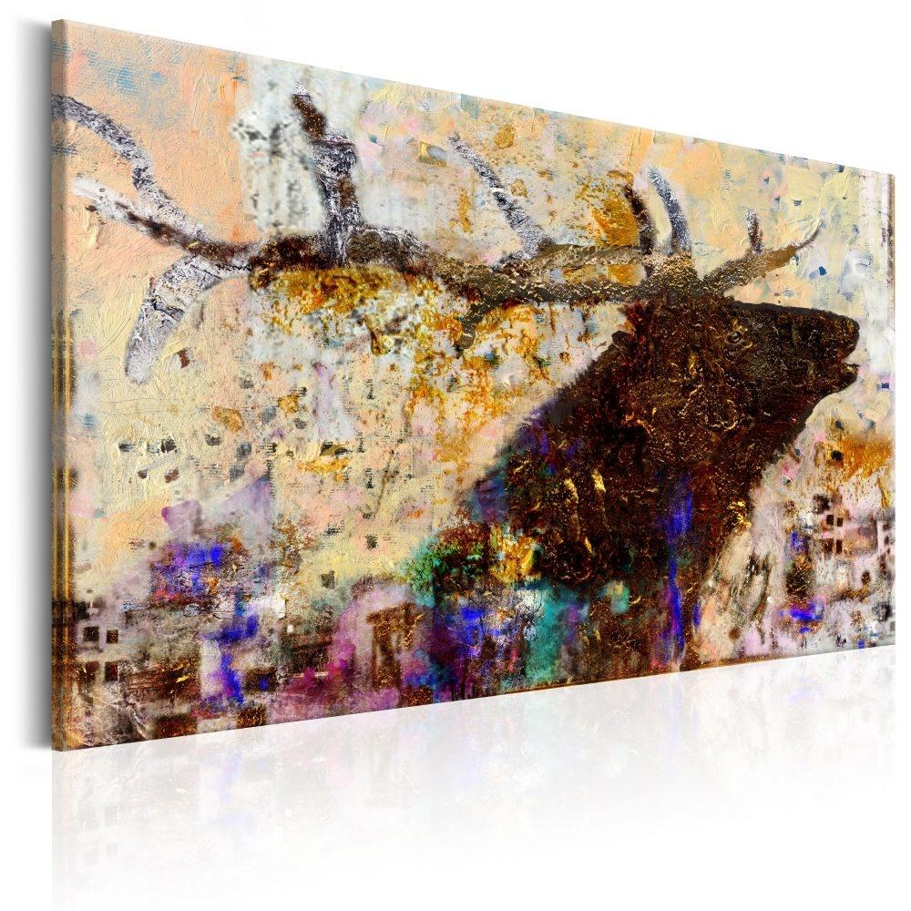 Schilderij - Gouden hert