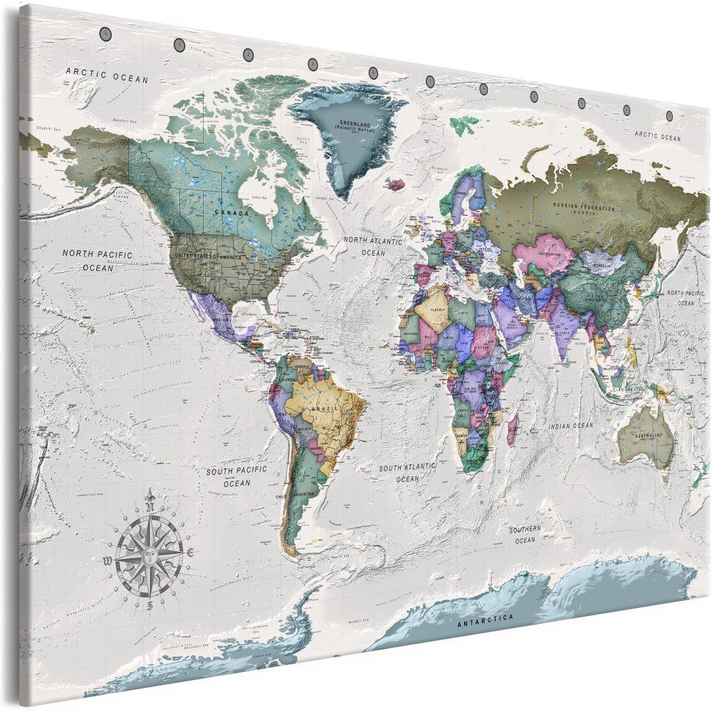 Schilderij - Wereldkaart , Bestemming van de Wereld II