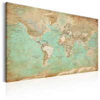 Schilderij - Wereldkaart , Breekbare Wereld