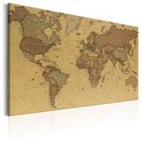 Schilderij - Stijlvolle Wereldkaart II