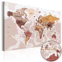 Schilderij - Wereldkaart , Bronzen Enclave