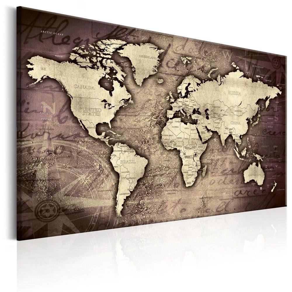 Schilderij - Wereldkaart , Kostbare Aarde