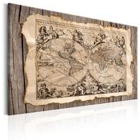 Schilderij - Wereldkaart , Kaart van het Verleden
