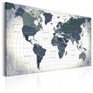 Schilderij - Wereldkaart , Structuur van de wereld