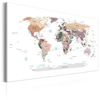 Schilderij -Wereldkaart , Waar zijn we vandaag?