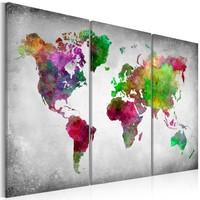 Schilderij - De diversiteit van de wereld , 3 luik