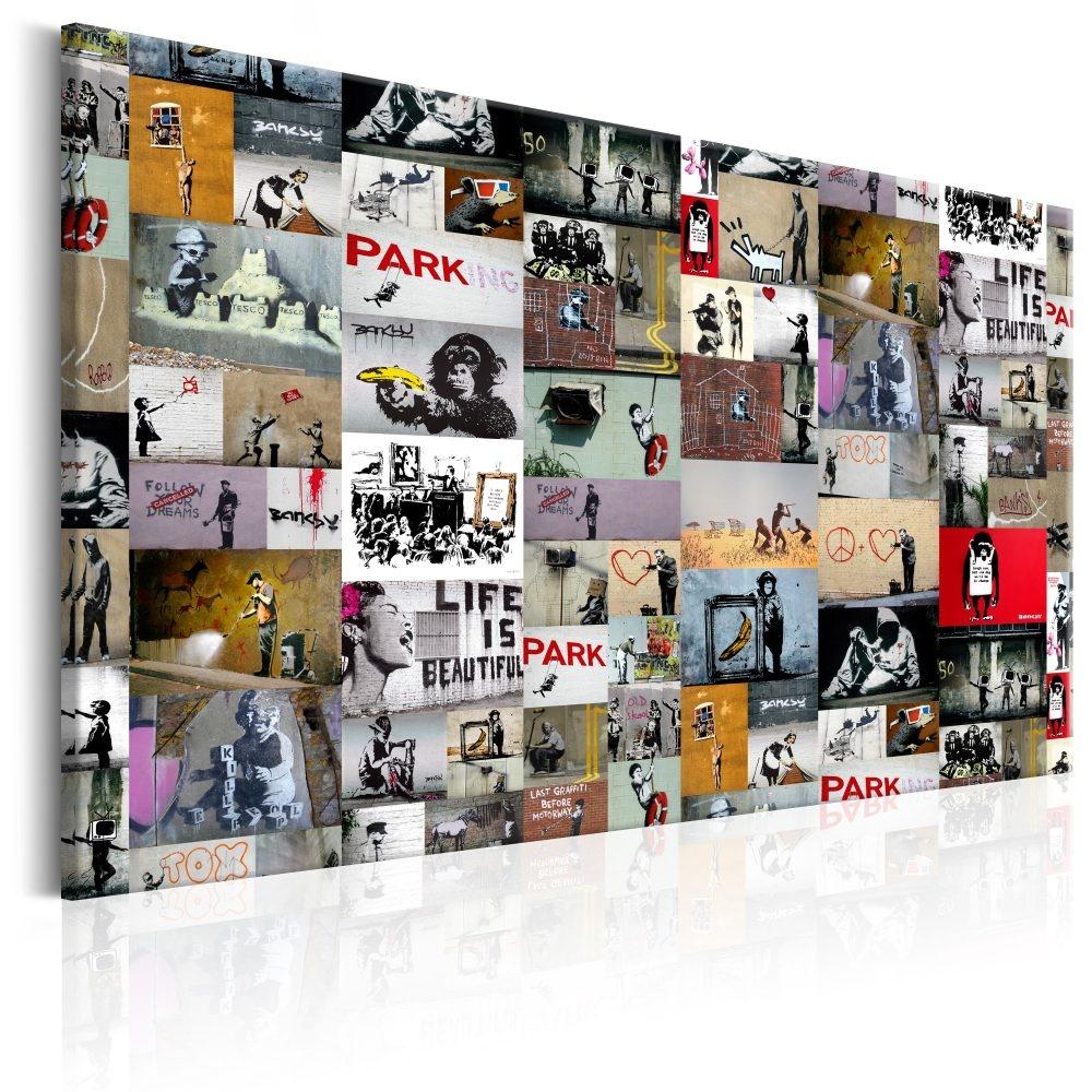 Schilderij - Kunst van Collage: Banksy