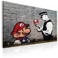 Schilderij - Mario en Agent , Banksy
