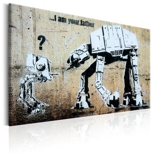 Schilderij - I Am Your Father , Banksy