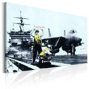 Schilderij -  Applaus , Banksy