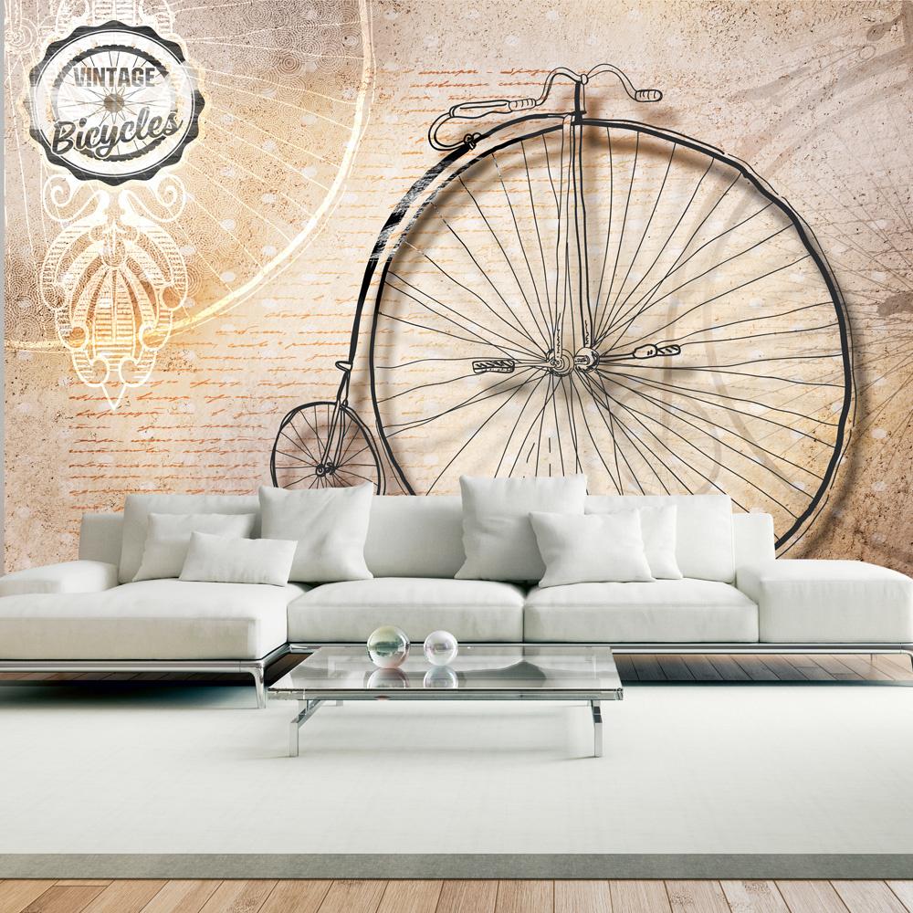 Fotobehang - Vintage fietsen - sepia