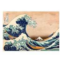 Fotobehang - Hokusai: De grote golf van Kanagawa (Reproduction)