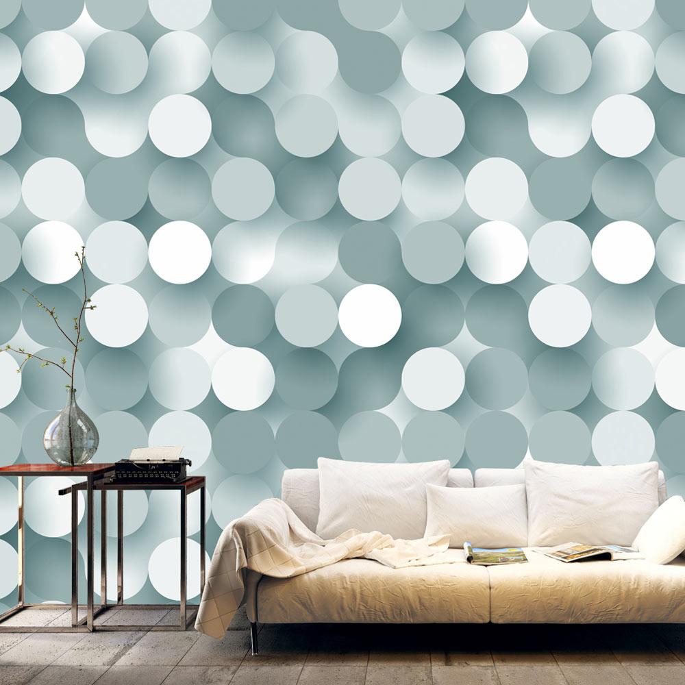 Fotobehang - Vijftig tinten grijze bollen