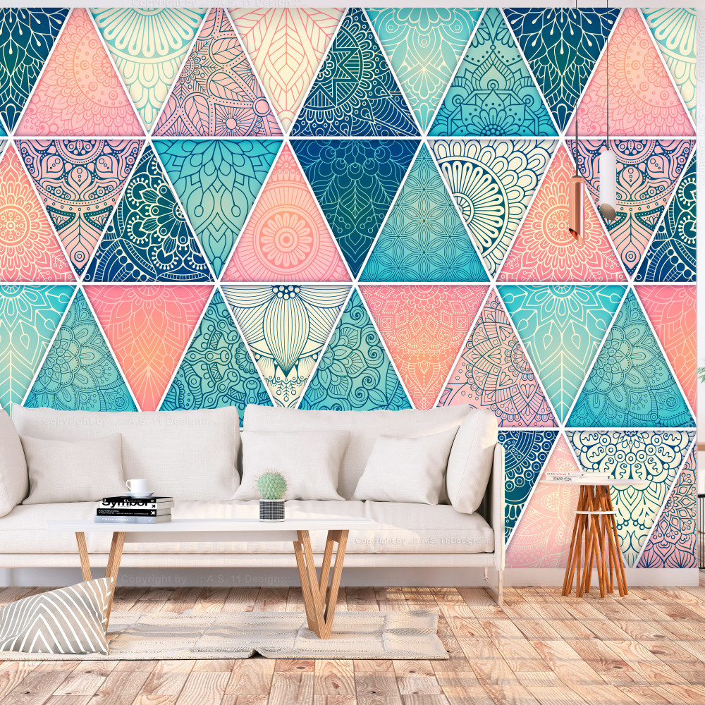 Fotobehang - Mandala Driehoeken