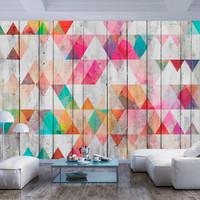 Fotobehang - Regenboog Driehoeken