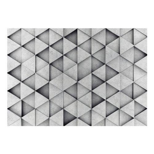 Fotobehang - Grijze Driehoeken
