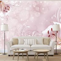 Fotobehang - Roze Lelies